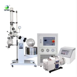 Rotary evaporator with chiller and pump
